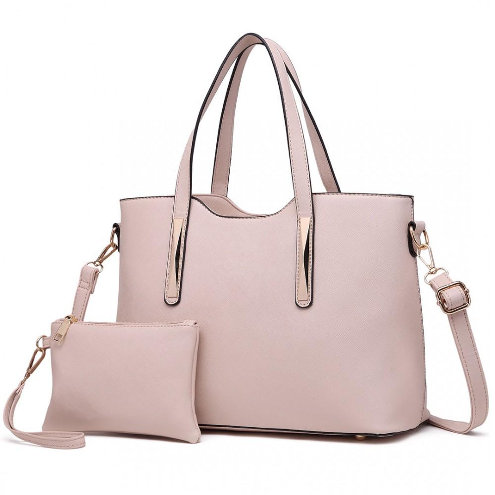 Praktický dámsky kabelkový set 2v1 Miss Lulu béžová