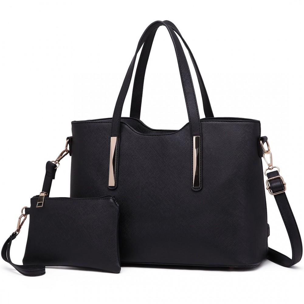 Praktický dámsky kabelkový set 2v1 Miss Lulu čierna