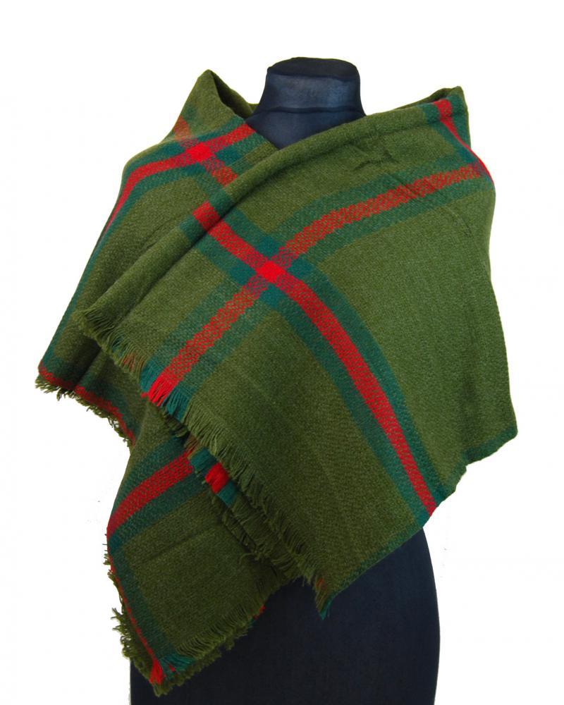 NEW BERRY dámsky pletený šál / pléd BC717 zelený