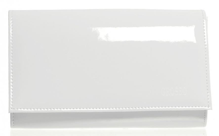 Luxusná biela lakovaná dámska listová kabelka SP100 GROSSO