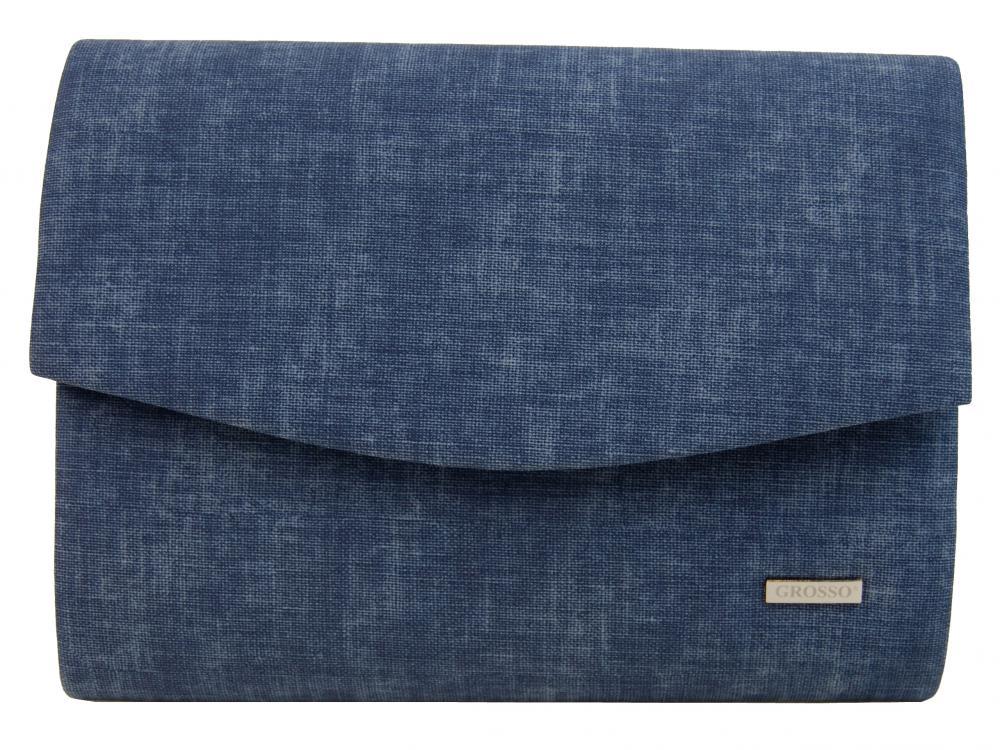 Luxusná modrá džínsová listová kabelka SP132 GROSSO