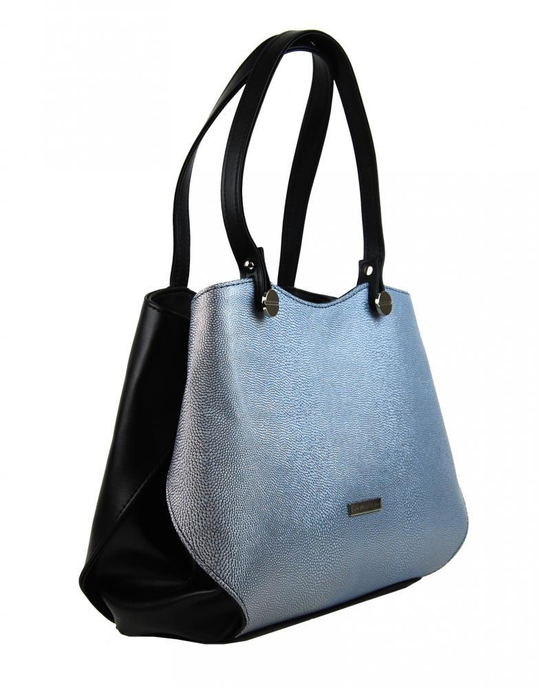 Černo-stříbrná elegantní dámská kabelka přes rameno S614 GROSSO 7bf15f80cbf