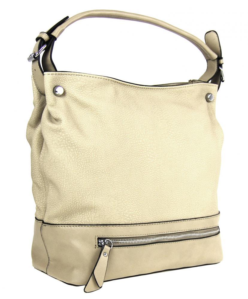 Veľká kabelka na rameno TH2032 žltobéžová
