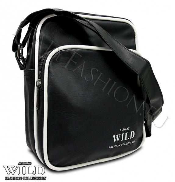 Unisex černá sportovní crossbody taška WILD