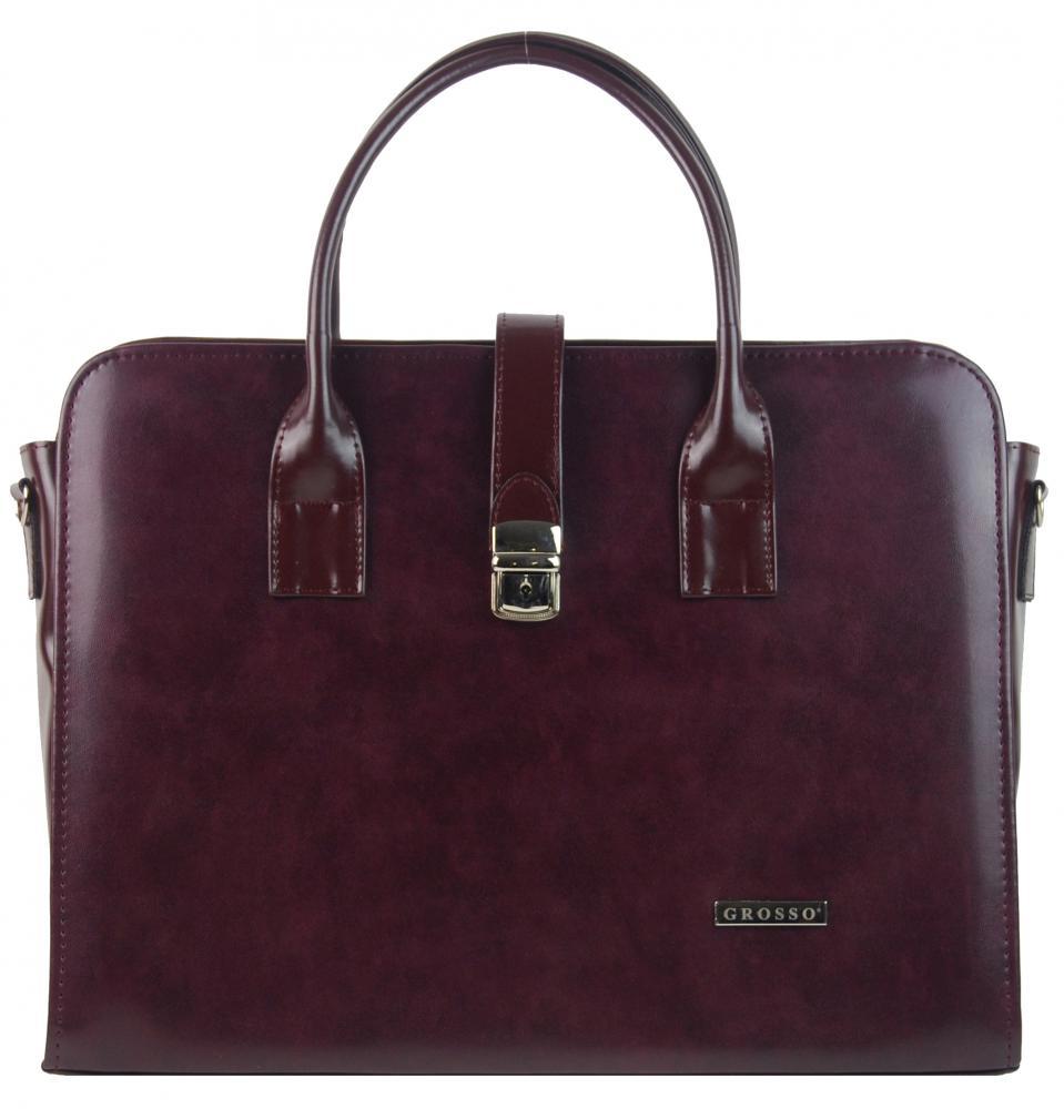 """Vínová elegantní dámská aktovka / taška na notebook 15.6"""" ST02 GROSSO"""