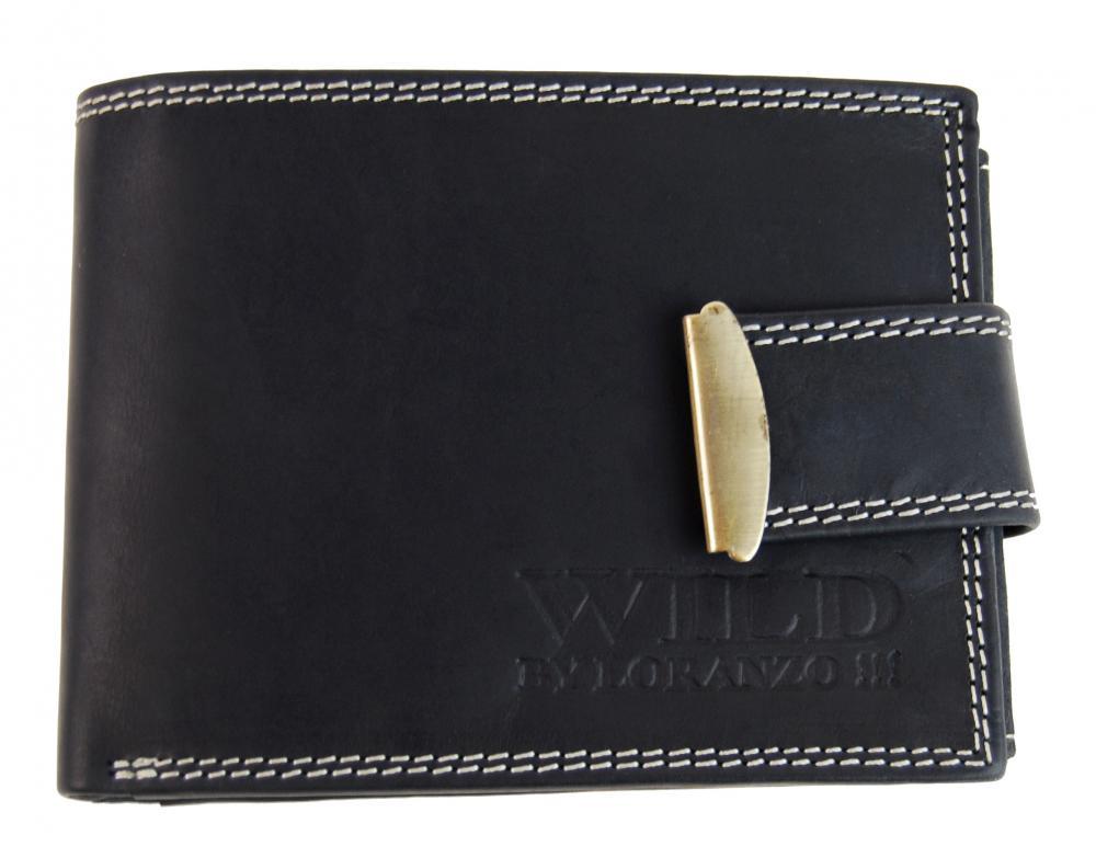 Pánská peněženka z broušené kůže WILD 964 černá