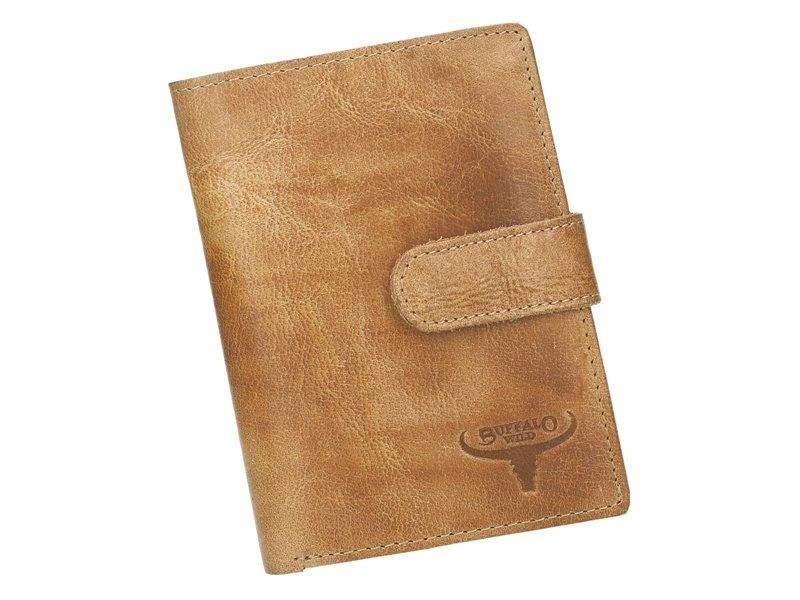 Kožená pánská peněženka písková hnědá RFID v krabičce WILD