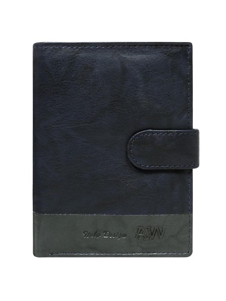Kožená modrá pánská peněženka WILD