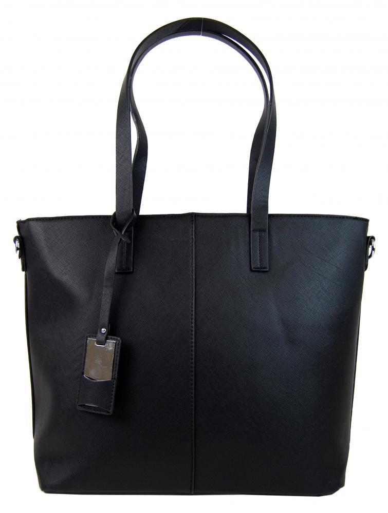 Elegantní kabelka s ozdobou YH-1623 černá