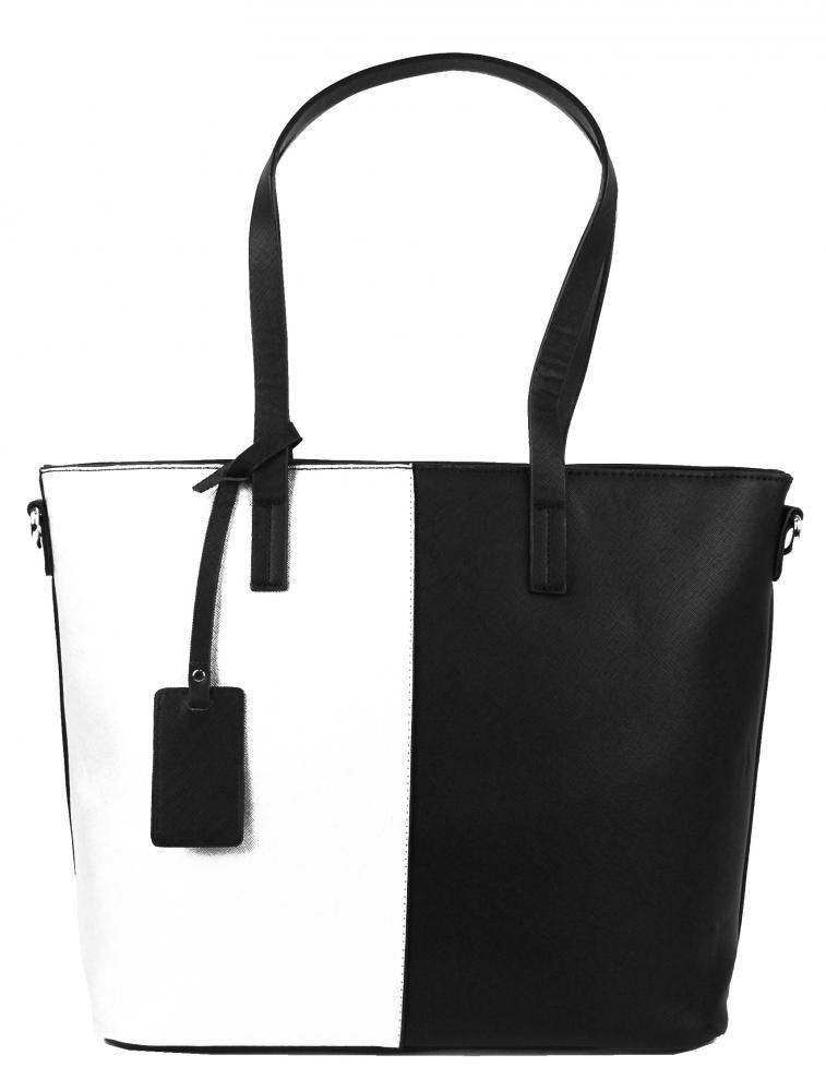 Elegantní kabelka s ozdobou YH-1623 černo-bílá