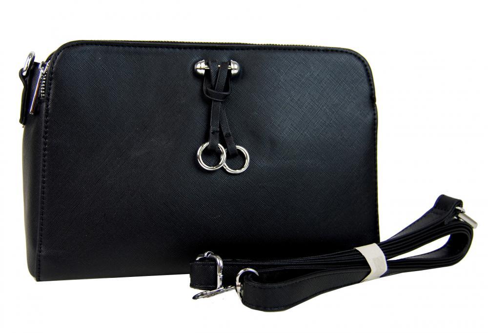 Pozdĺžna čierna praktická crossbody kabelka YH1632