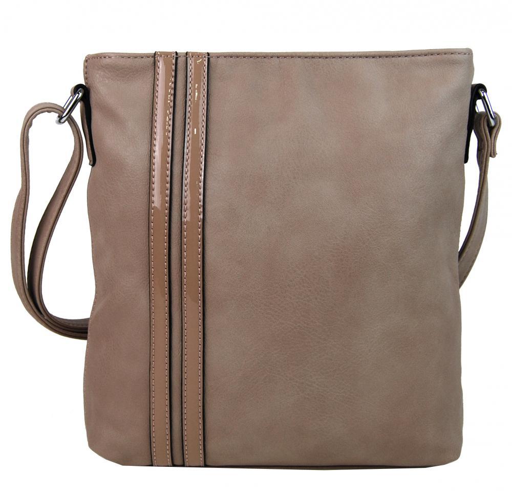 Elegantná crossbody kabelka YH1641 prírodná hnedá