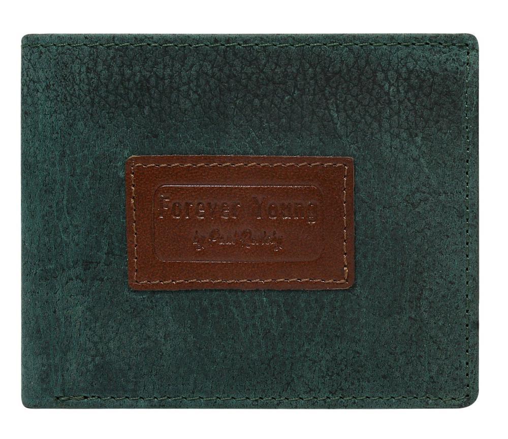 Zelená pánská kožená peněženka v krabičce RFID Forever Young