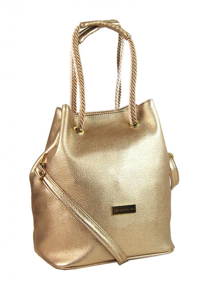 53d0a807e4 Zlatá dámská kabelka přes rameno S738 GROSSO