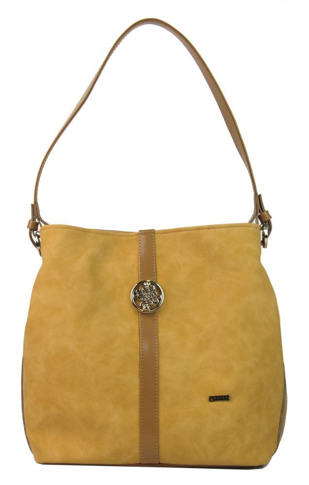 Žlutá dámská kabelka přes rameno S404 GROSSO f85a597c638