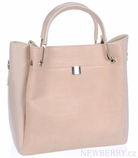 58ecafb3a0 Světle růžová elegantní dámská kabelka S728 GROSSO   NEWBERRY ...