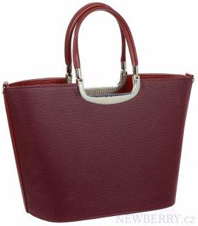44c7586d72d Bordová stylová dámská kabelka do ruky S7 GROSSO   NEWBERRY ...