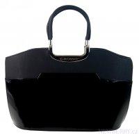 7fabd986f6 Černá kabelka do ruky mat lak S5 GROSSO
