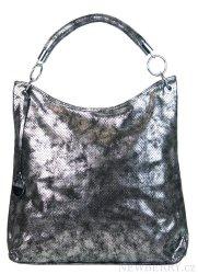Moderní velká metalická kabelka přes rameno 665-MH stříbrná patina dec07887e01