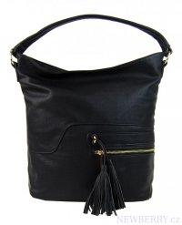 Elegantní kombinovaná dámská crossbody kabelka F1349 černá 8375597e867