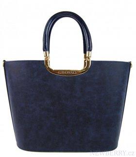 Luxusní kabelka do ruky S7 modrá s prskaným efektem GROSSO ... ec0108bb842