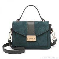Stylová zelená menší dámská kabelka Miss Lulu 333f00cb057