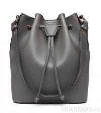 0d1acf8ec189 Šedá dámská moderní kabelka ve tvaru vaku Miss Lulu