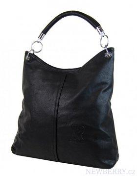 Moderní velká kabelka přes rameno 54-MH černá   NEWBERRY ... 97c7298475