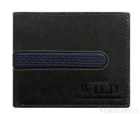 Černá pánská kožená peněženka WILD v krabičce   NEWBERRY ... 6cdb1eab19
