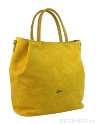da9074f562 Žlutá prostorná elegantní dámská kabelka S737 GROSSO