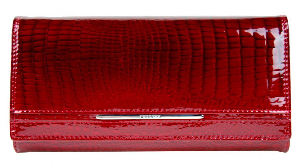 Dámska kožená peňaženka v krabičke Cossroll 02-5242-2 červená