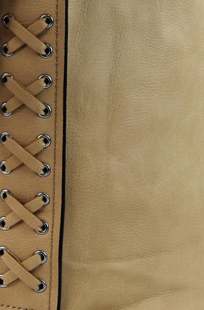 Velká dámská crossbody kabelka / pytel 1586-BB hnědo-meruňková