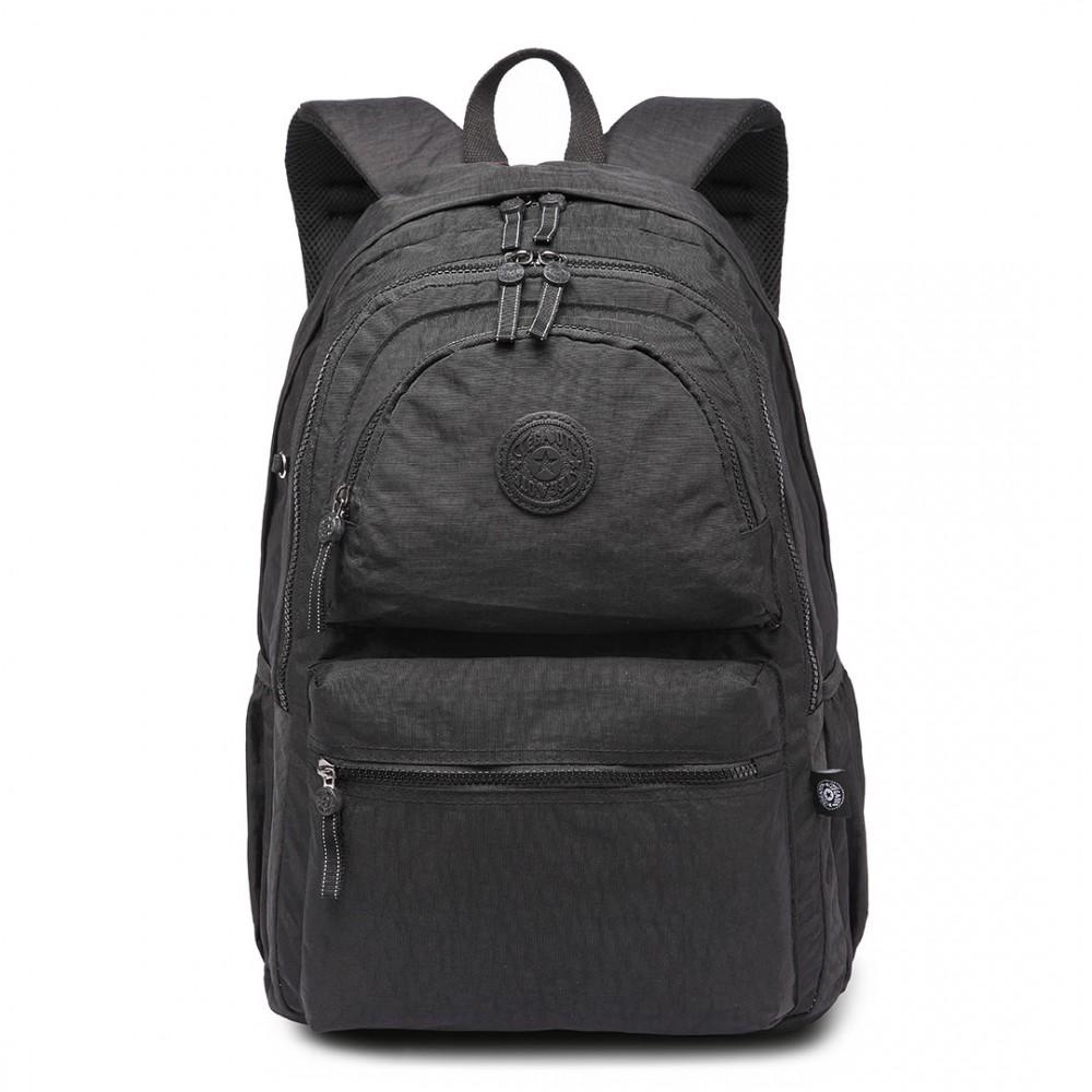 Kvalitní černý batoh s vodoodpudivou úpravou Miss Lulu