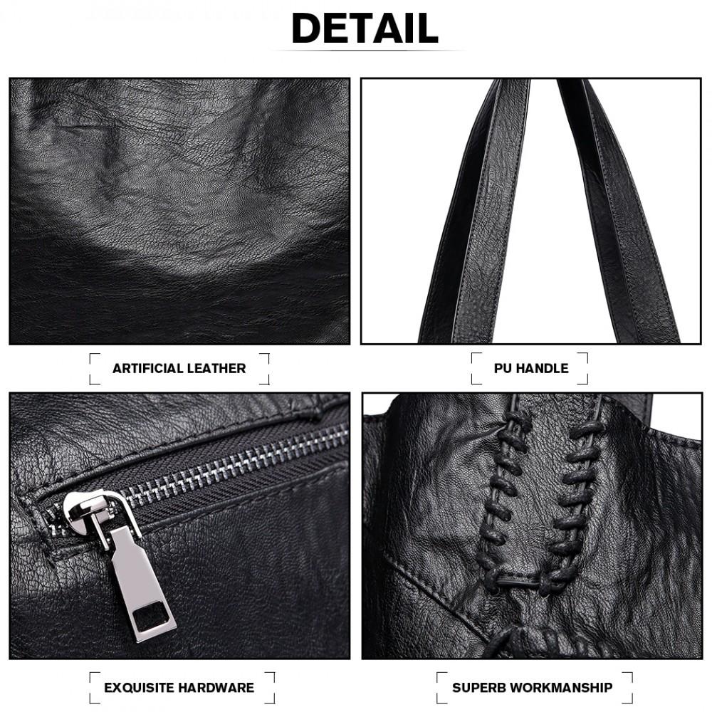 Černý dámský set velkých kabelek 2v1 Miss Lulu