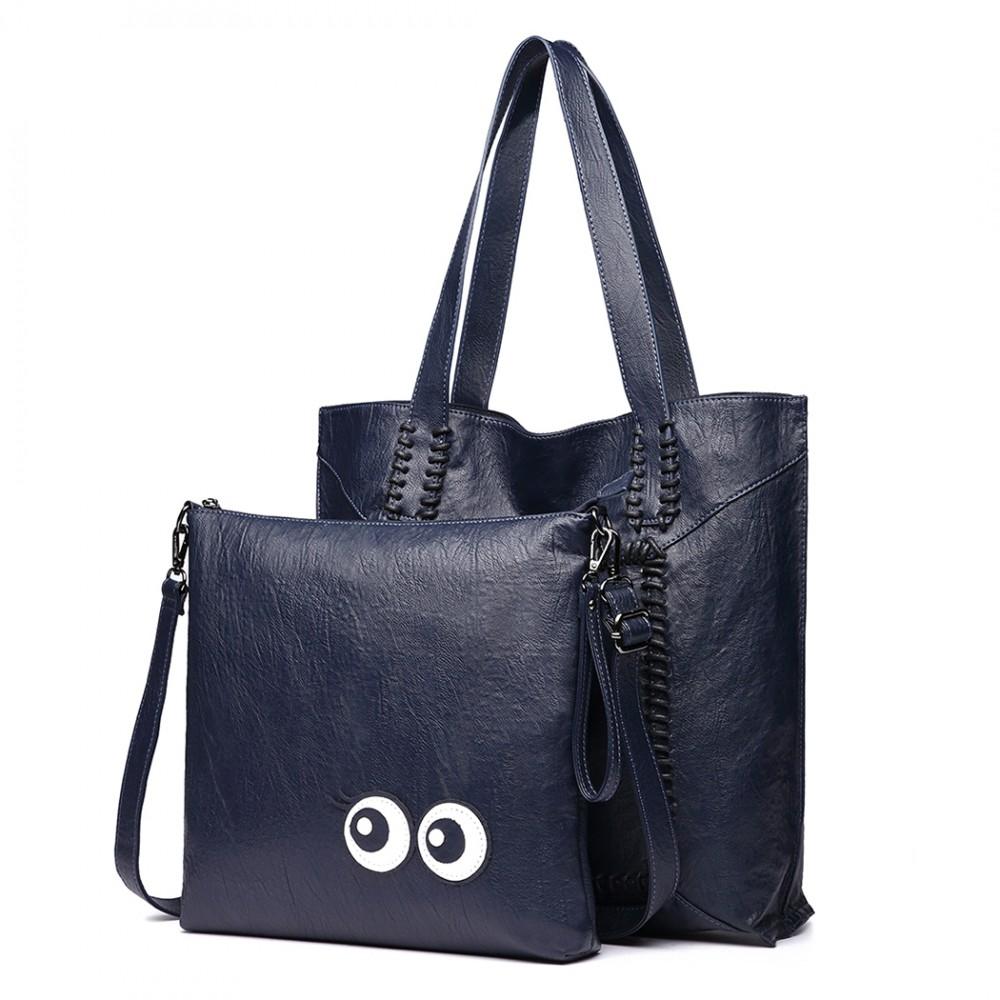 Modrý dámský set velkých kabelek 2v1 Miss Lulu