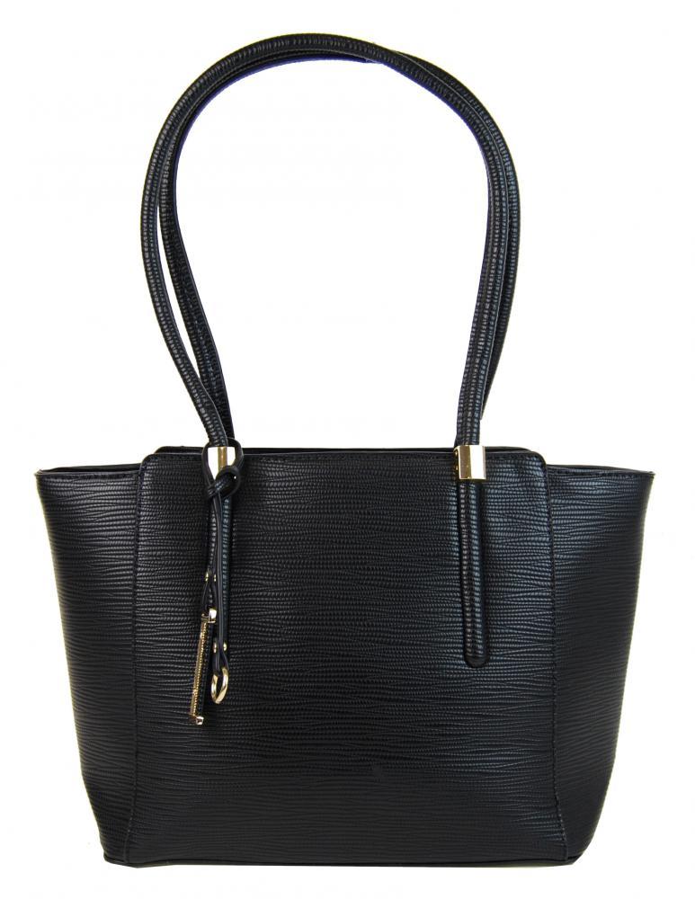 Elegantná kabelka na rameno so zlatými doplnkami 2017-BB čierna