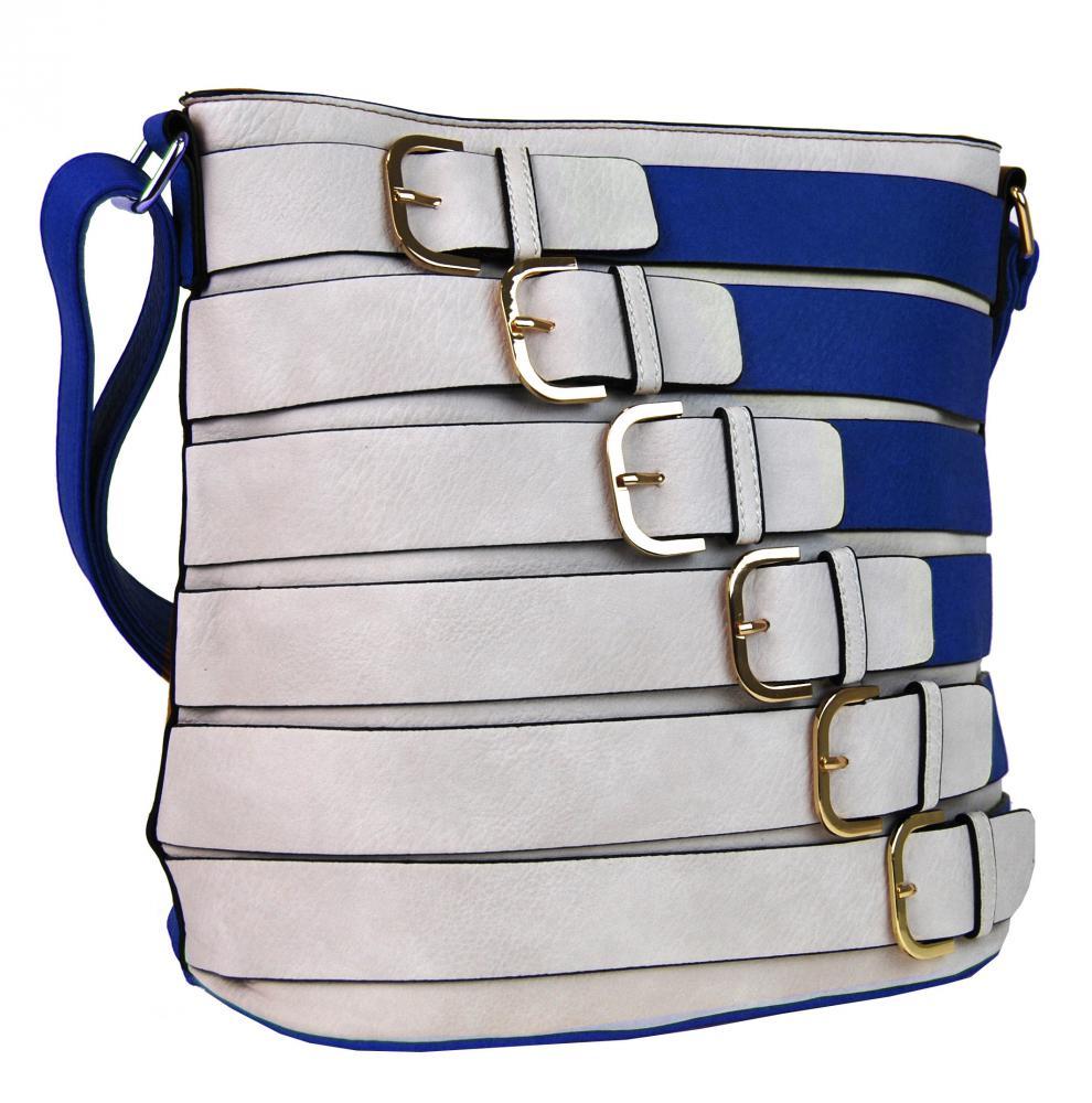 Modrá dámská crossbody kabelka
