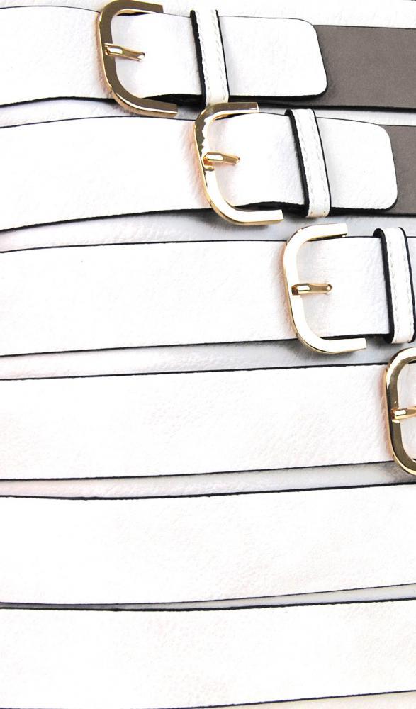 Moderní crossbody kabelka se zlatými přezkami 2124-BB šedá