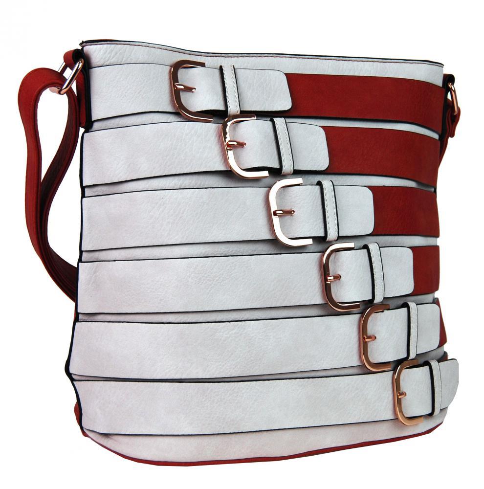 Červená dámská crossbody kabelka