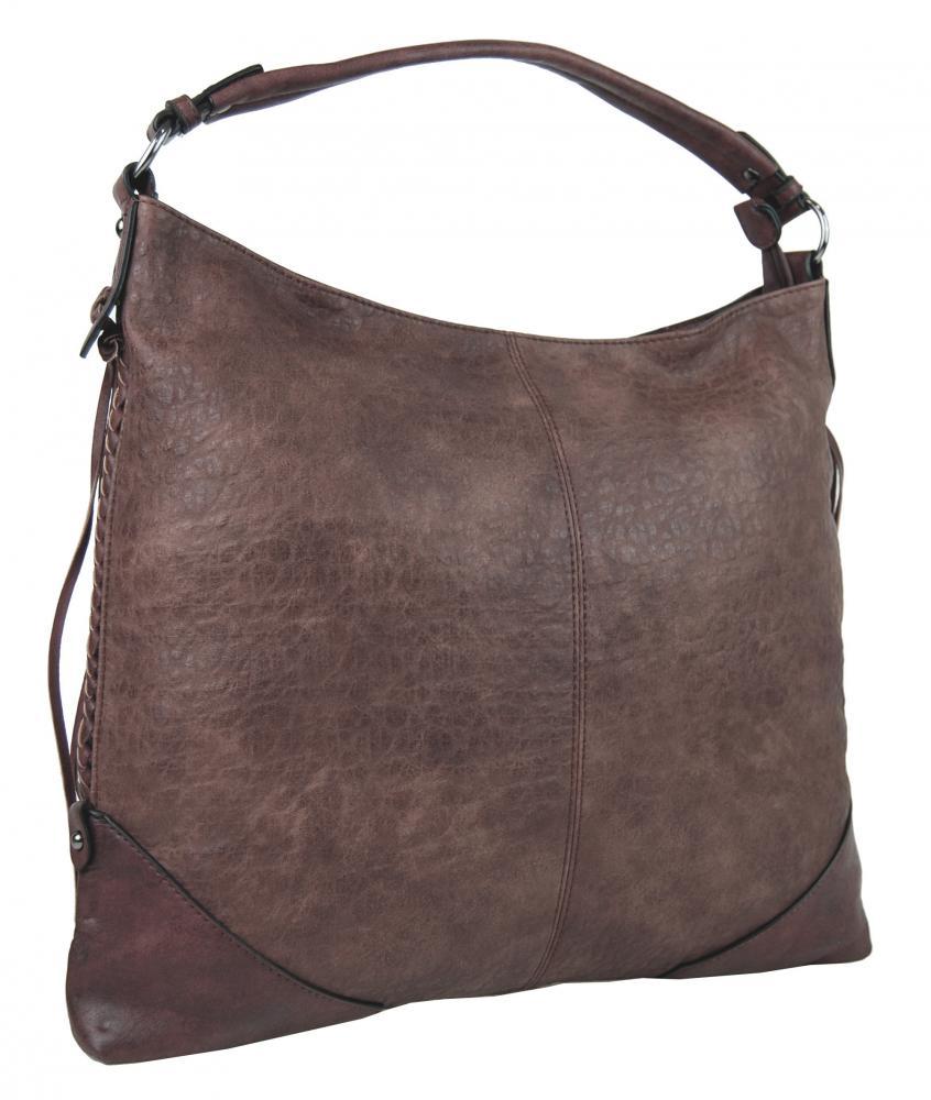 Hnědofialová dámská kabelka na rameno Alessandra