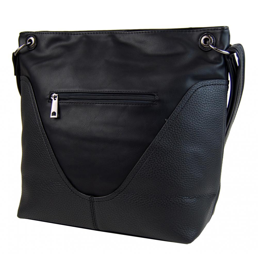Velká dámská crossbody kabelka 2467-BB černá