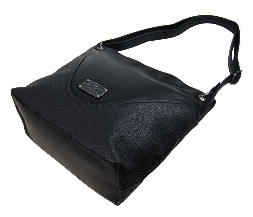 Veľká dámska crossbody kabelka 2467-BB čierna