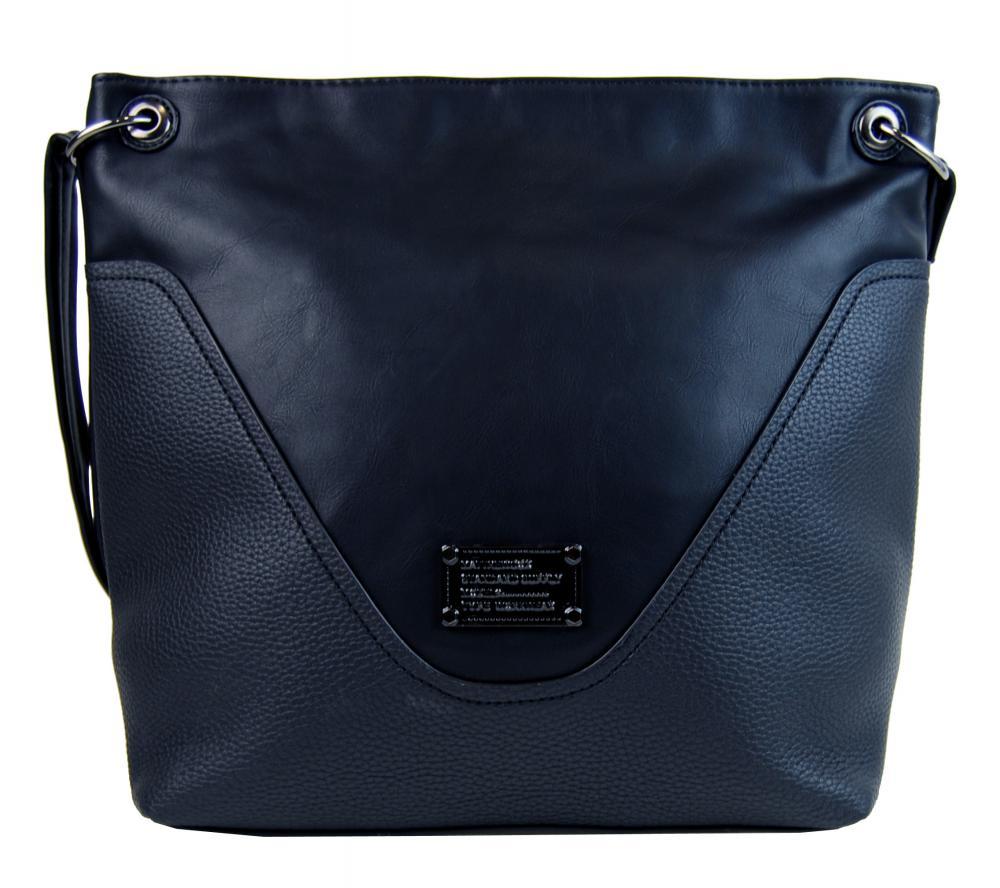 Veľká dámska crossbody kabelka 2467-BB modrá