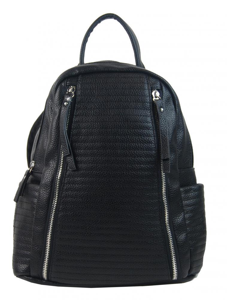 Černý dámský elegantní batůžek 2606-BB