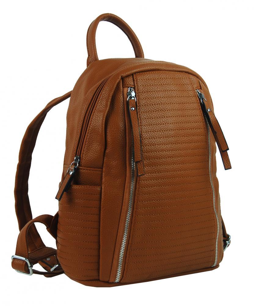 Hnědý dámský elegantní batůžek 2606-BB