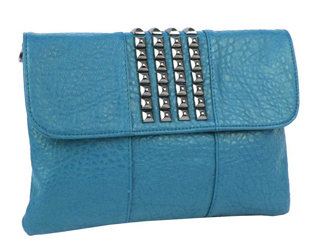 Menší modrá dámská crossbody kabelka