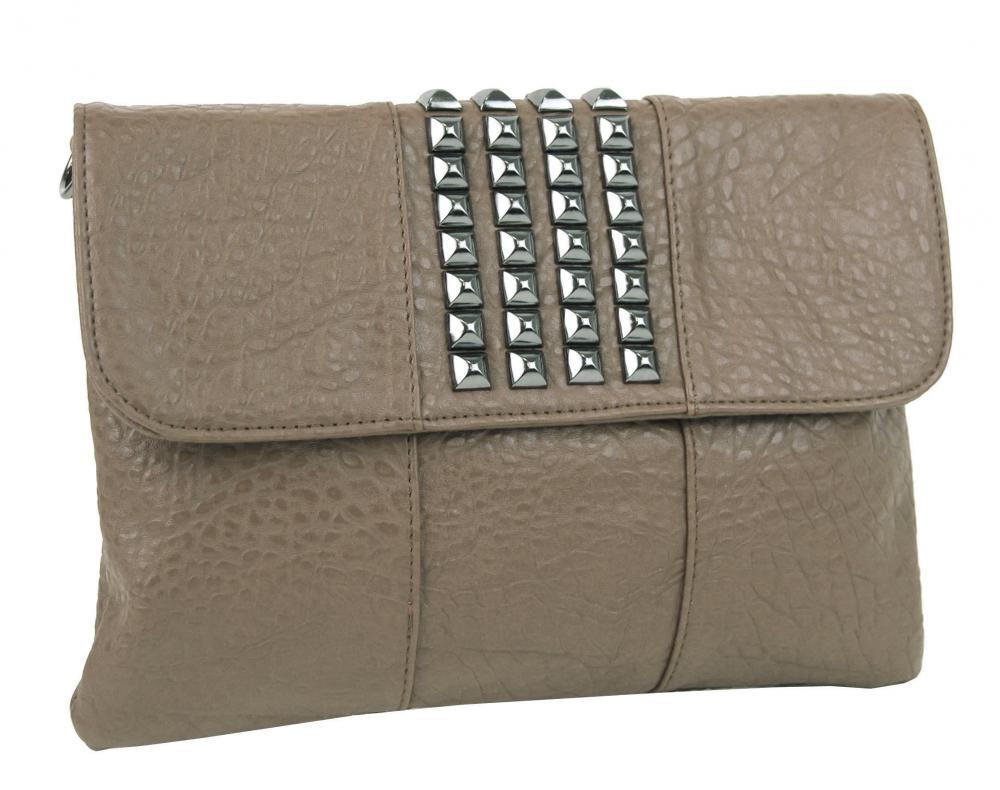 Kombinovaná crossbody kabelka / písanie 28006 šedohnedá