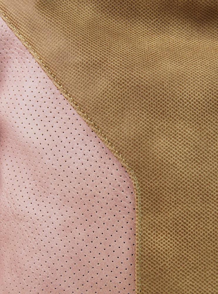 Veľká dámska crossbody kabelka 2949-MM hnedo-ružová
