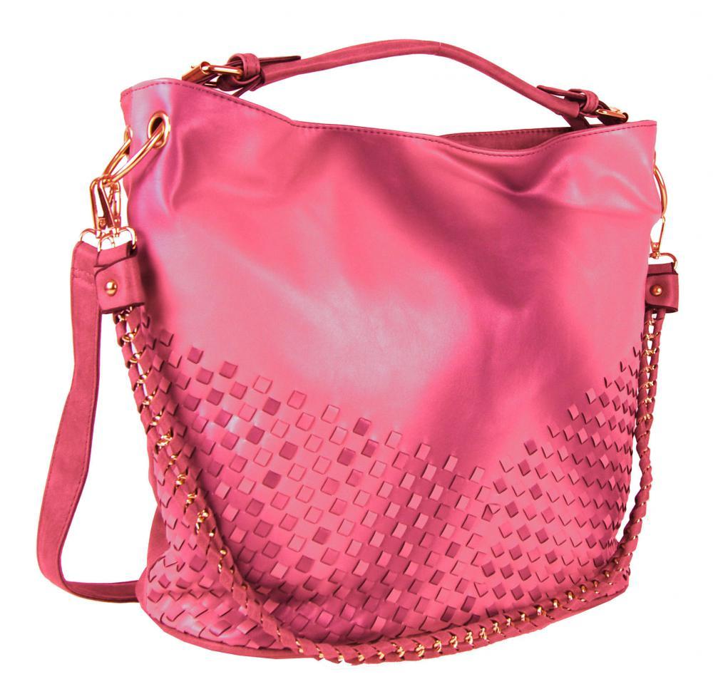 Červeno-růžová dámská kabelka