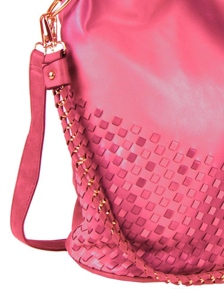 Kombinovaná dámská kabelka Tapple 3091 růžovo-červená